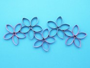cardboard art toilet roll flowers 04
